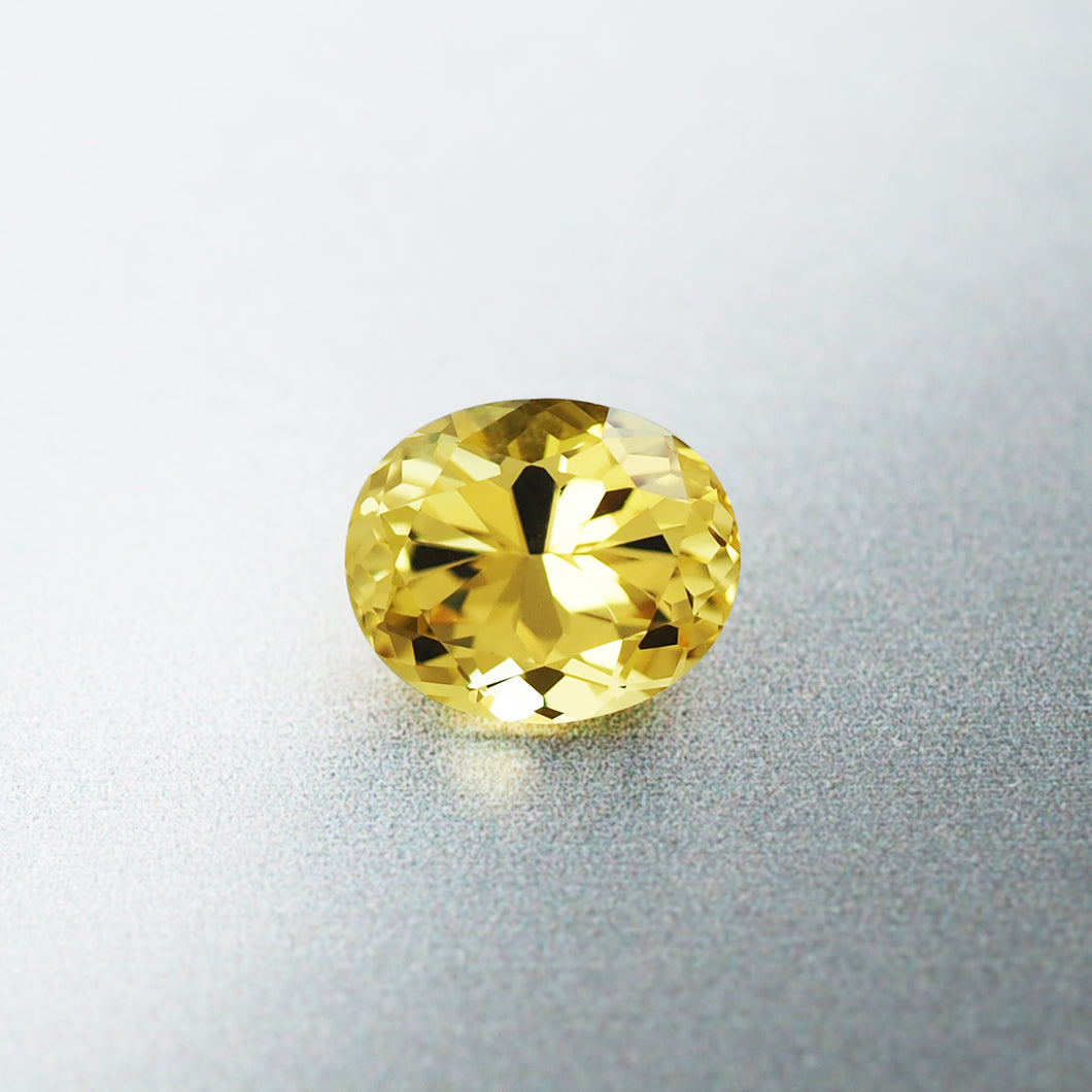 1.31CT Natural Unheated Canary Yellow Sapphire, Oval Cut, Kenya