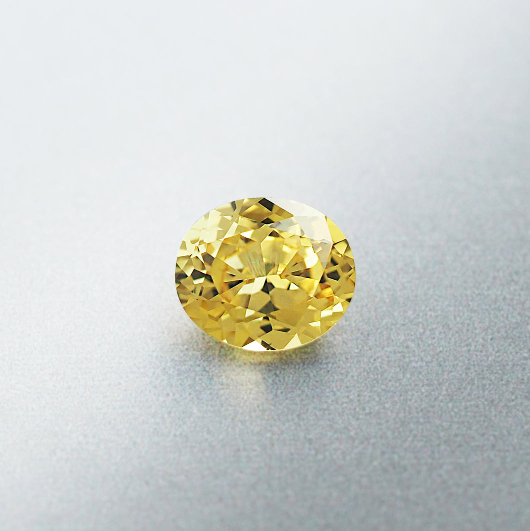 1.35CT Natural Unheated Canary Yellow Sapphire, Oval Cut, Kenya