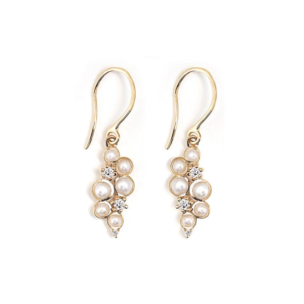 Pearl and Diamond Drop Earring