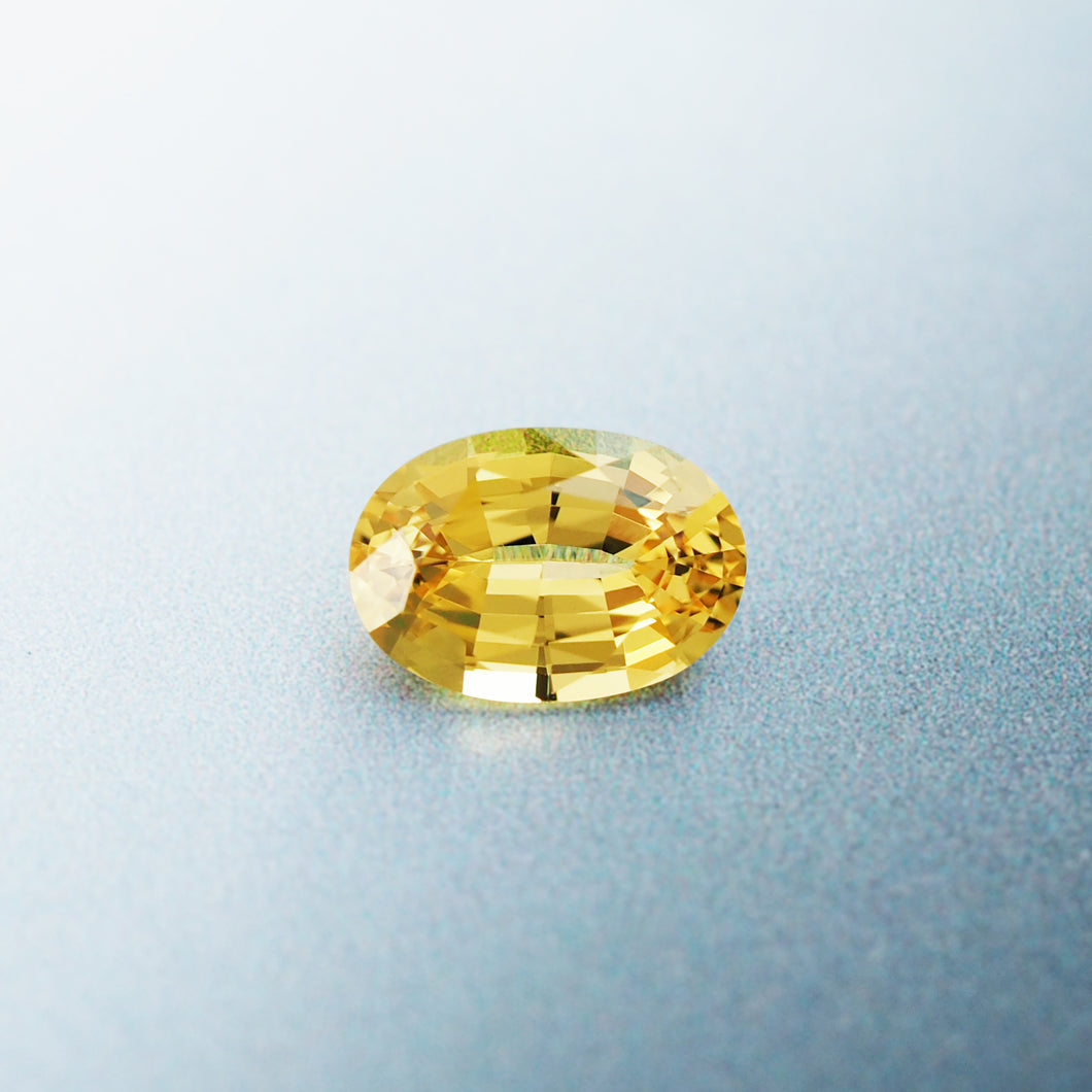 1.68CT Natural Unheated Canary Yellow Sapphire, Oval Cut, Kenya