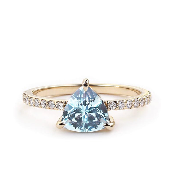 Classic Pave Solitaire - Low Profile