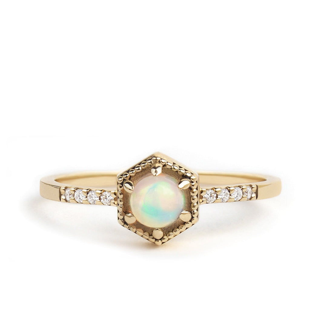 by-joy-fine-jewelry-Opal Hexagon Ring