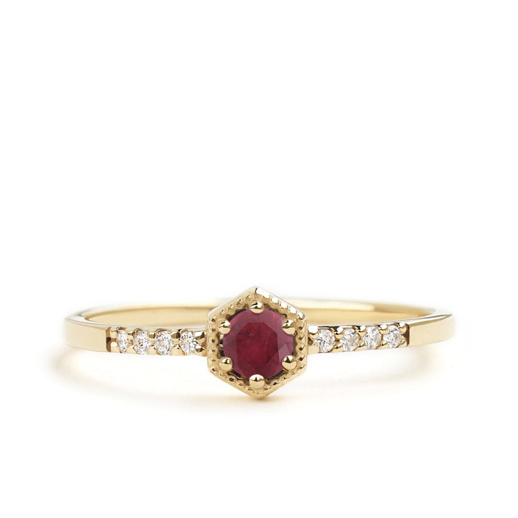 by-joy-fine-jewelry-Ruby Hexagon Ring