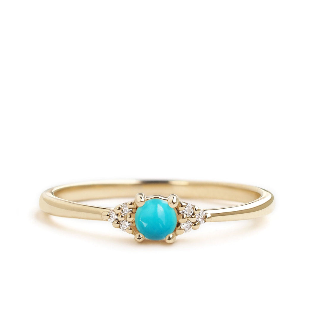 by-joy-fine-jewelry-Petite Turquoise Flora Ring