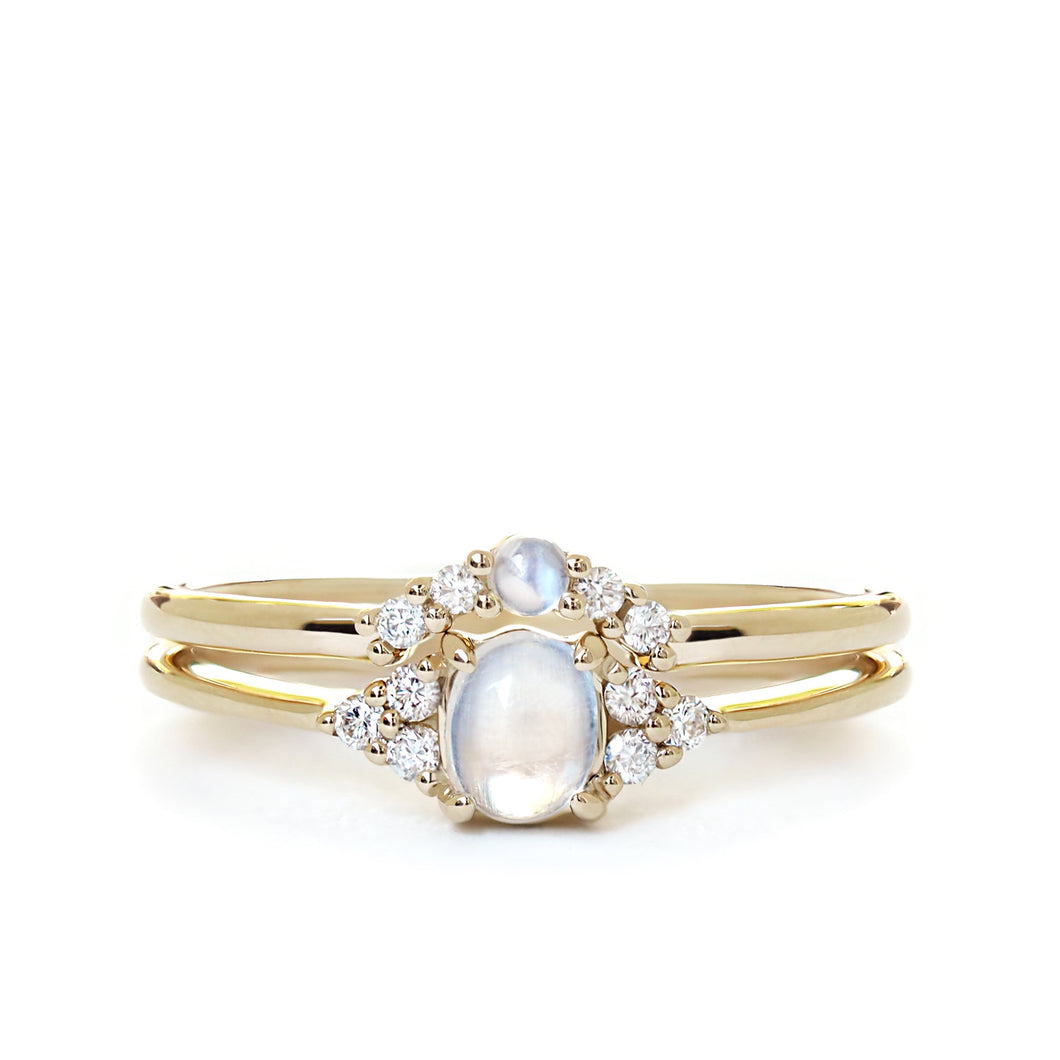 by-joy-fine-jewelry-Moonstone Oval Flora Ring Set