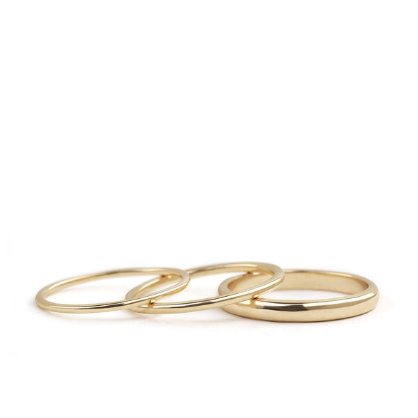 by-joy-fine-jewelry-Classic Gold Band (1mm, 1.5mm and 2.5mm)