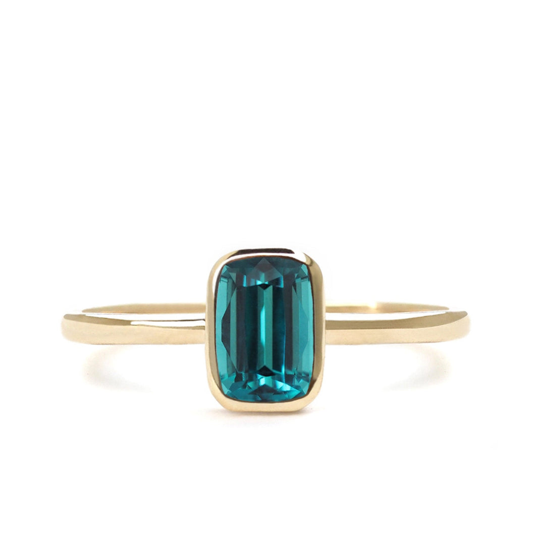 by-joy-fine-jewelry-Emerald cut Blue Green Tourmaline Solitaire Ring