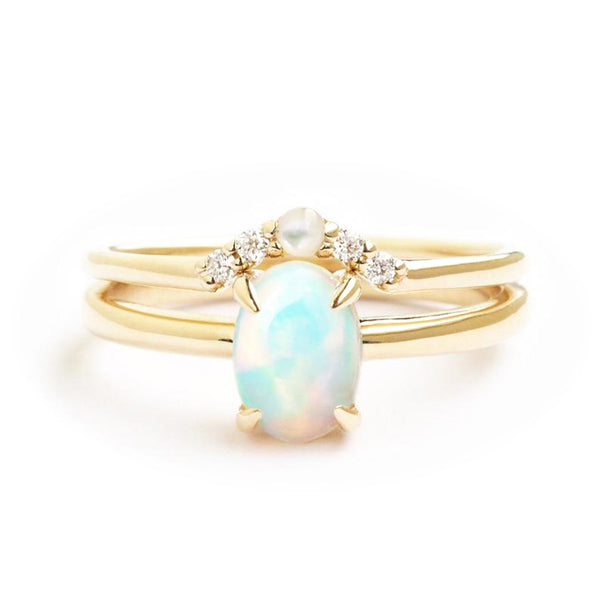 by-joy-fine-jewelry-Opal Oval Solitaire Ring Set