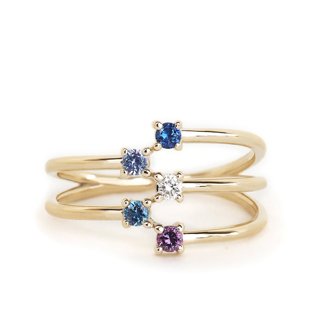 by-joy-fine-jewelry-5-Stone Constellation Ring