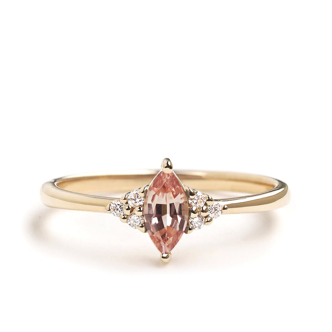 by-joy-fine-jewelry-Champagne Garnet Marquise Flora Ring