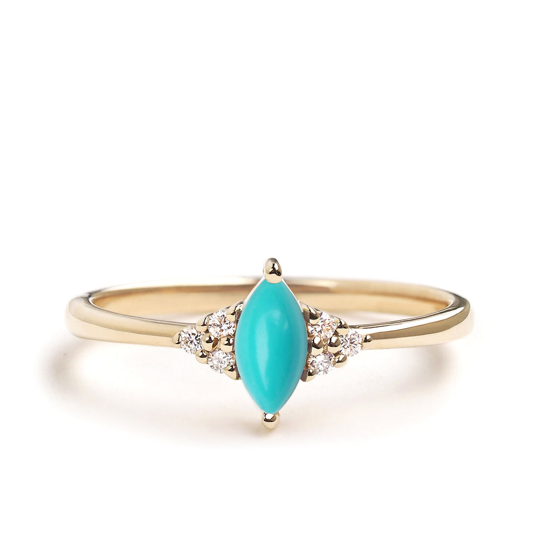 by-joy-fine-jewelry-Turquoise Marquise Flora Ring