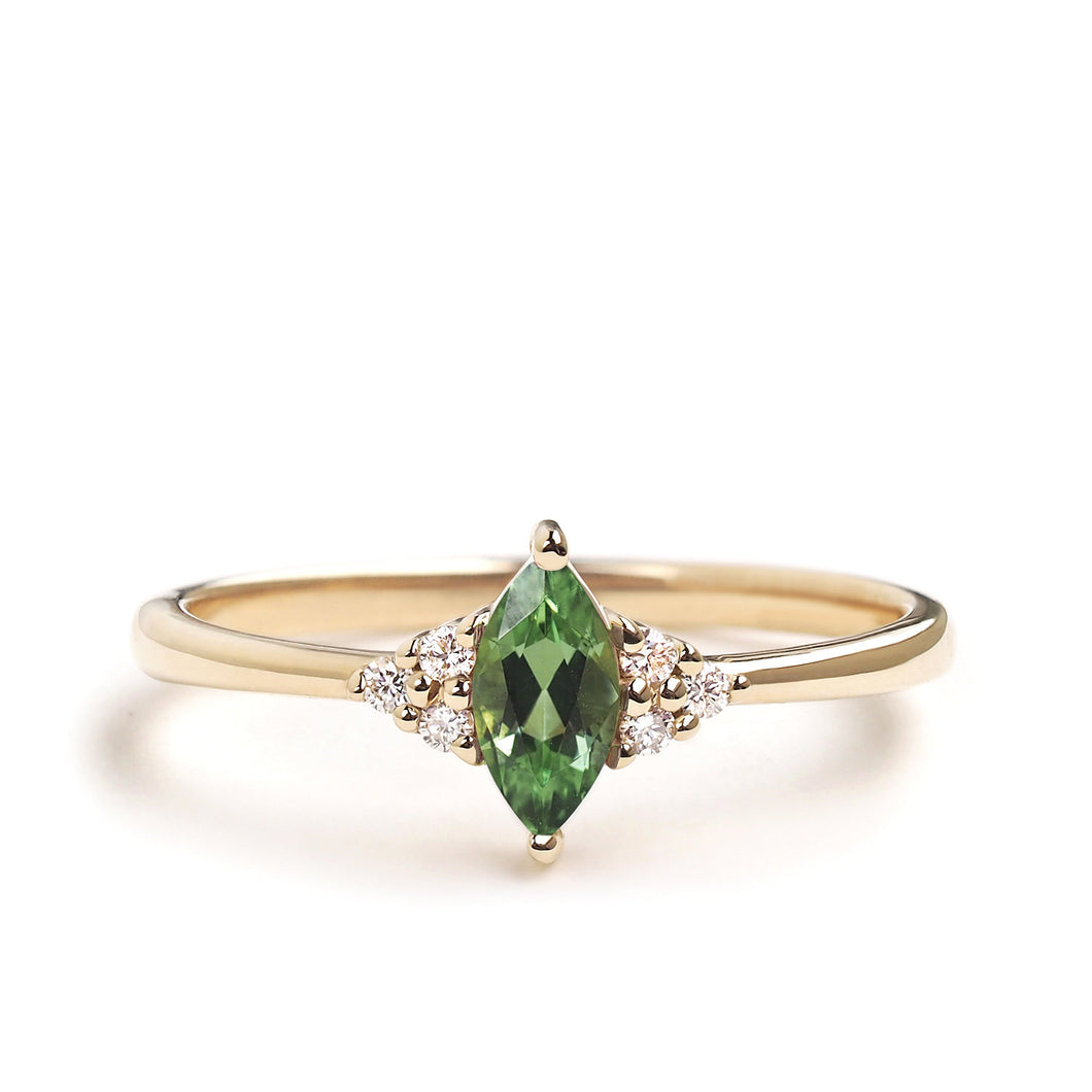 by-joy-fine-jewelry-Green Garnet Marquise Flora Ring