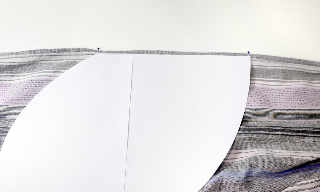 How to add a pocket to skirt or dress - marking bottom