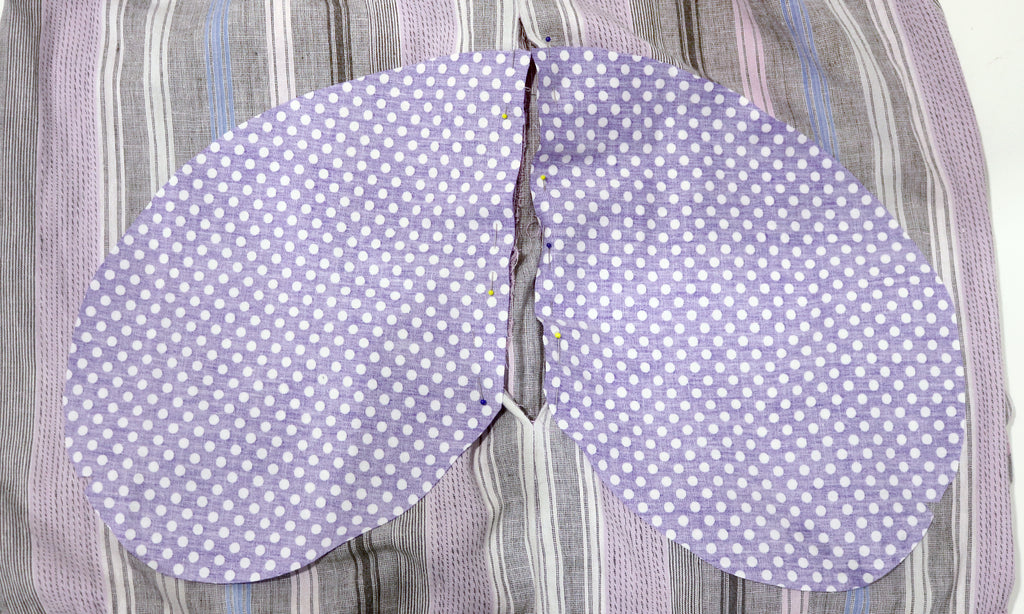 How to add a pocket to skirt or dress - pinning