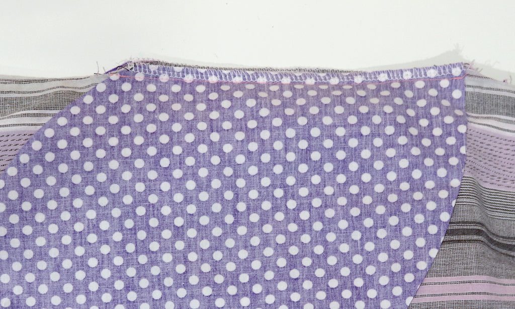 How to add a pocket to skirt or dress - overlocking