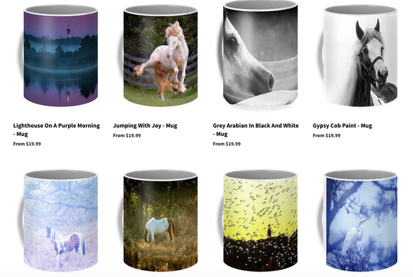 A few of the mugs available from Jillian Chilson Photography