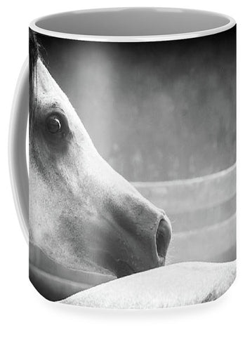 Grey Arabian In Black And White - Mug