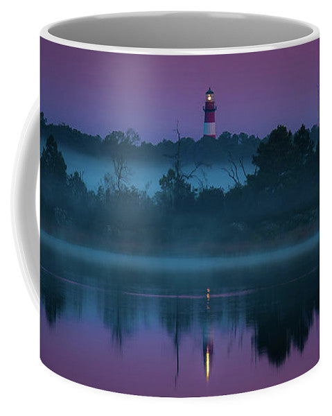 Lighthouse On A Purple Morning - Mug