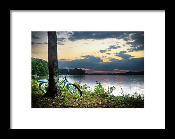 Bike Break - Framed Print