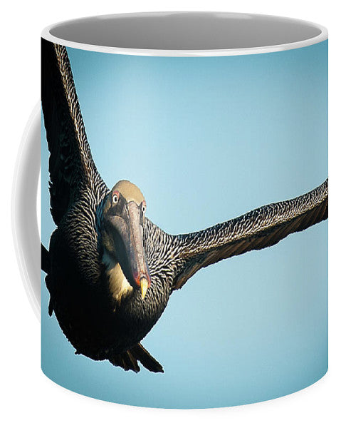 Brown Pelican In Flight - Mug