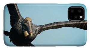 Brown Pelican In Flight - Phone Case