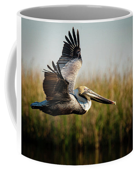 Brown Pelican's Morning Flight - Mug