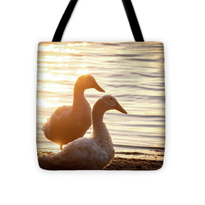Ducks at Sunset - Tote Bag