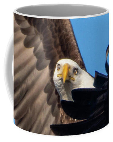 Eagle Mesmerized In Flight - Mug