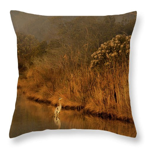 Early Morning In Chincoteague - Throw Pillow