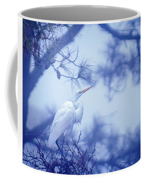 Egret On A Foggy Morning - Mug