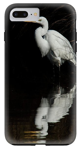 Great Egret Reflection - Phone Case