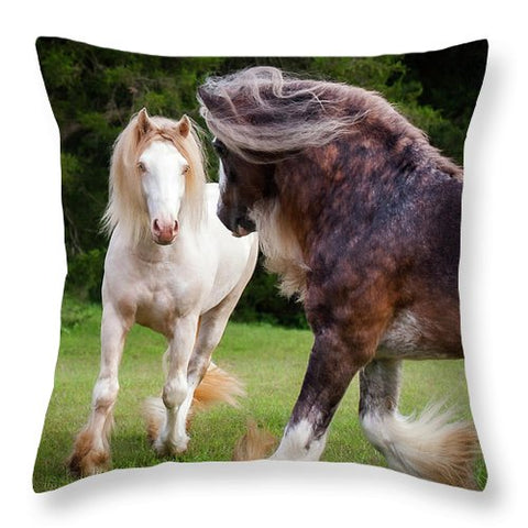 Gypsy Cob Intersection Of Trust  - Throw Pillow