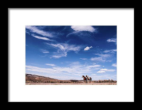 Horses in Waiting - Framed Print