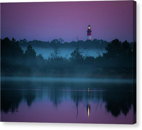 Lighthouse On A Purple Morning - Canvas Print