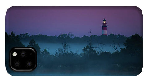 Lighthouse On A Purple Morning - Phone Case