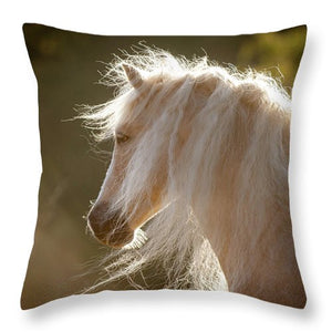 Mane Of Gold - Throw Pillow