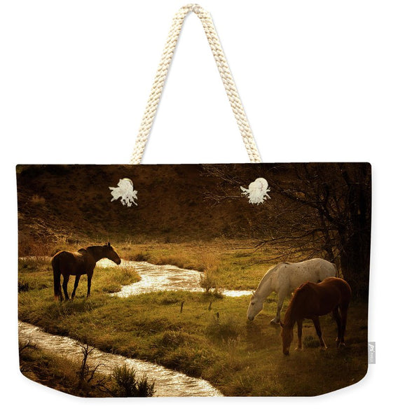 Peace and Stillness - Horse Life - Weekender Tote Bag