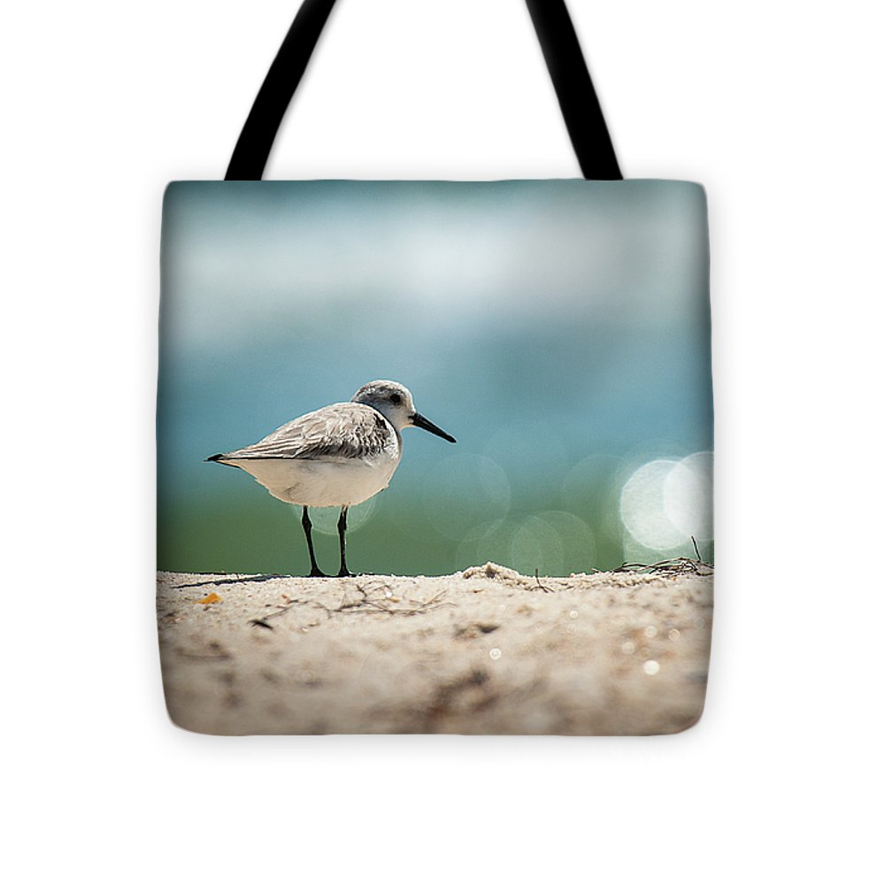 Sanderling On The Beach - Tote Bag