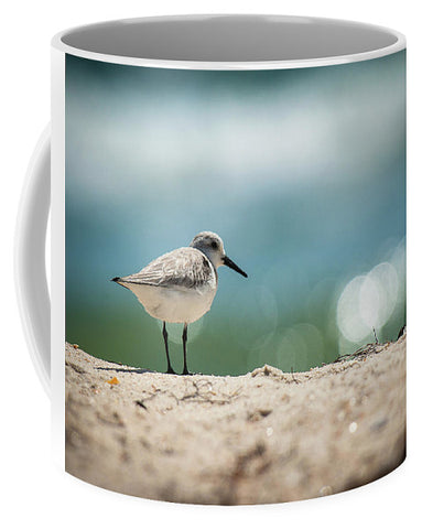 Sanderling on the Beach - Mug
