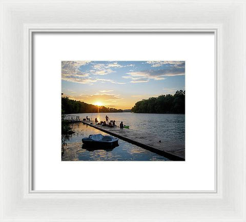 Summer Sunset Fun - Framed Print