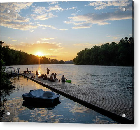 Summer Sunset Fun - Acrylic Print