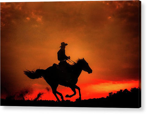 Western Red Sunset - Acrylic Print