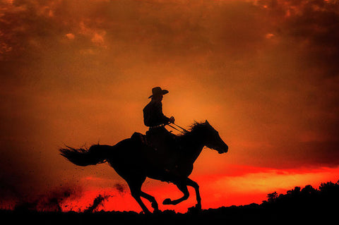 Western Red Sunset - Art Print
