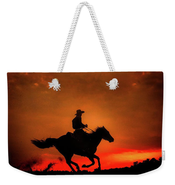 Western Red Sunset - Weekender Tote Bag