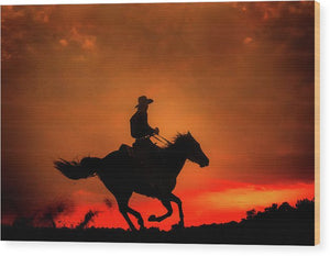 Western Red Sunset - Wood Print