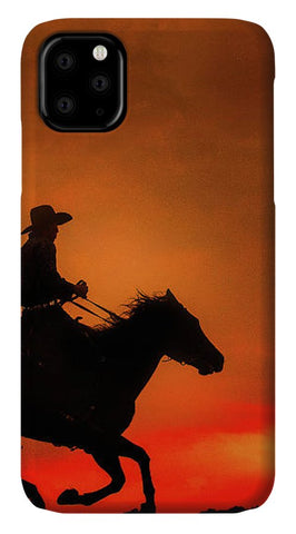 Western Red Sunset - Phone Case