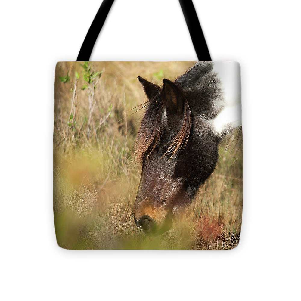 Wild Horse Grazing - Tote Bag