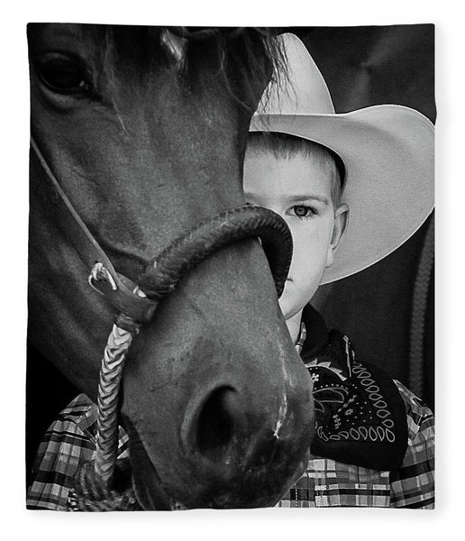 Young Cowboy Emerging - Blanket