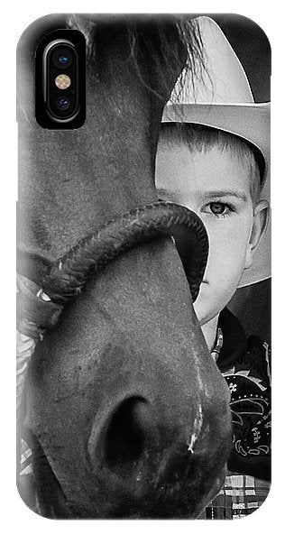 Young Cowboy Emerging - Phone Case