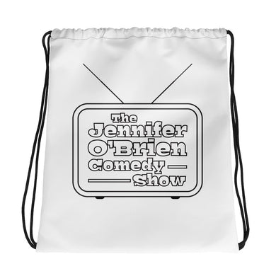 Jennifer O'Brien Comedy Logo: Drawstring Bag